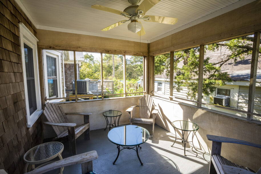 Dads screened porch