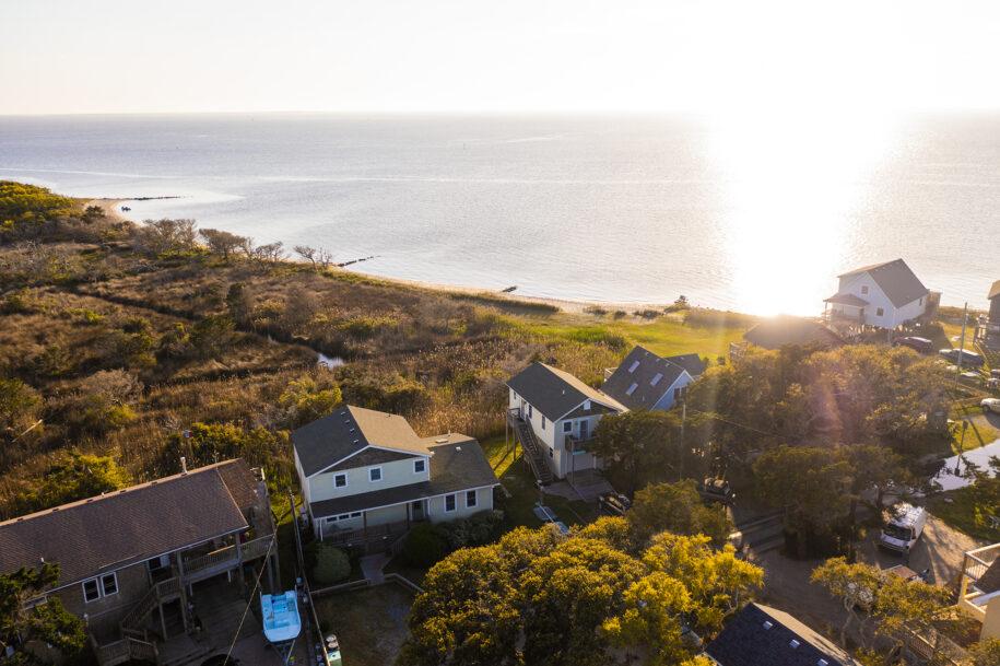 aerial cottages soundside