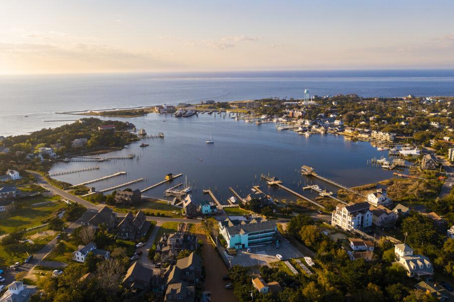 aerial of harbor