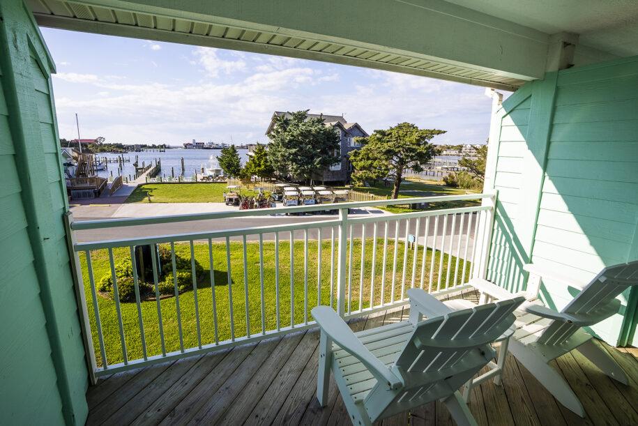 standard second floor porch view