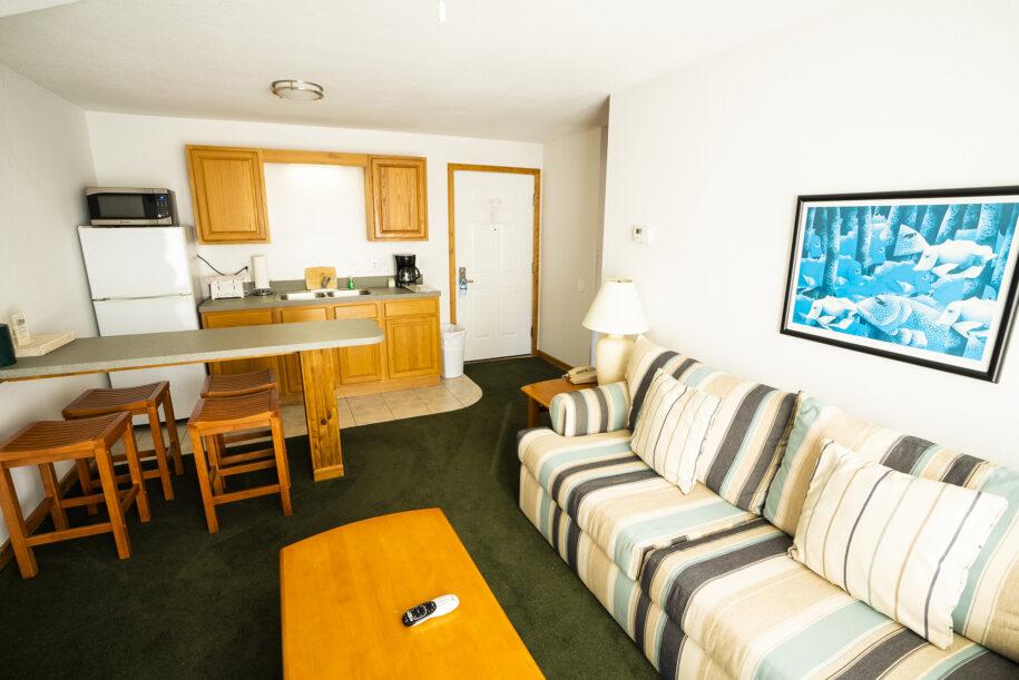 suite 304 living room kitchen